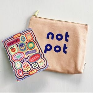 *Free w/ Purchase* Not Pot Pouch + Stickers